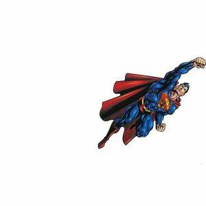 Superman Childrens Wallpaper Kids Boys Red Blue White YH14577