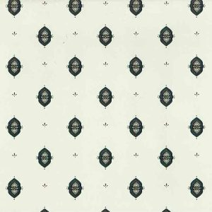 Green Arts Crafts vintage wallpaper, rose, gray, off-white, cream, William Morris
