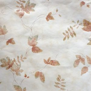 Fall Leaves Vintage Wallpaper Brown Green Cream MY70262 D/Rs