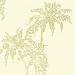 Cream Embossed Leaves Wallpaper Ronald Redding ED1718 D/Rs