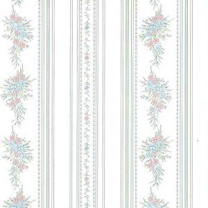 Sanitas Vintage Floral Wallpaper Stripes Textured 748-4702 D/Rs