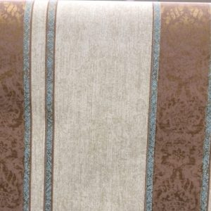 Striped Wallpaper Brown Damask Beige Glazed DA2396 Double Rolls