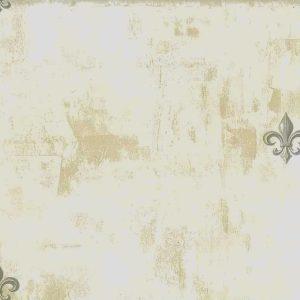 Fleur de Lys Gray Wallpaper Vintage Style Faux WL83801 D/Rs
