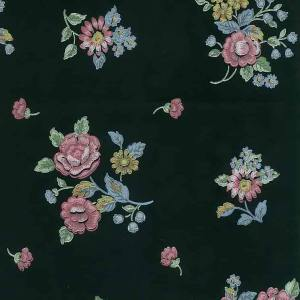 Black Floral Vintage Wallpaper Pink Blue Yellow SM2147 D/Rs