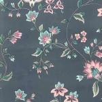 Closeout wallpaper Cleveland Ohio, blue, floral, vintage, Waverly