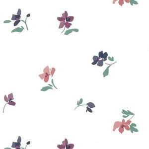 Contemporary Floral Wallpaper Purple Pink Magenta Off-White IL551 D/Rs