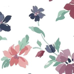 Purple Magenta Floral Vintage Wallpaper Green Pink IL548 D/Rs