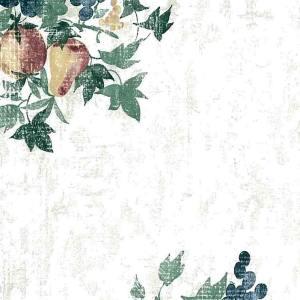 Fruit Ivy Wallpaper Kitchen Green Blue Matching Border CK3444 D/Rs