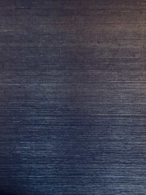 Magnolia Home Navy Blue Grasscloth Wallpaper VG4405MH