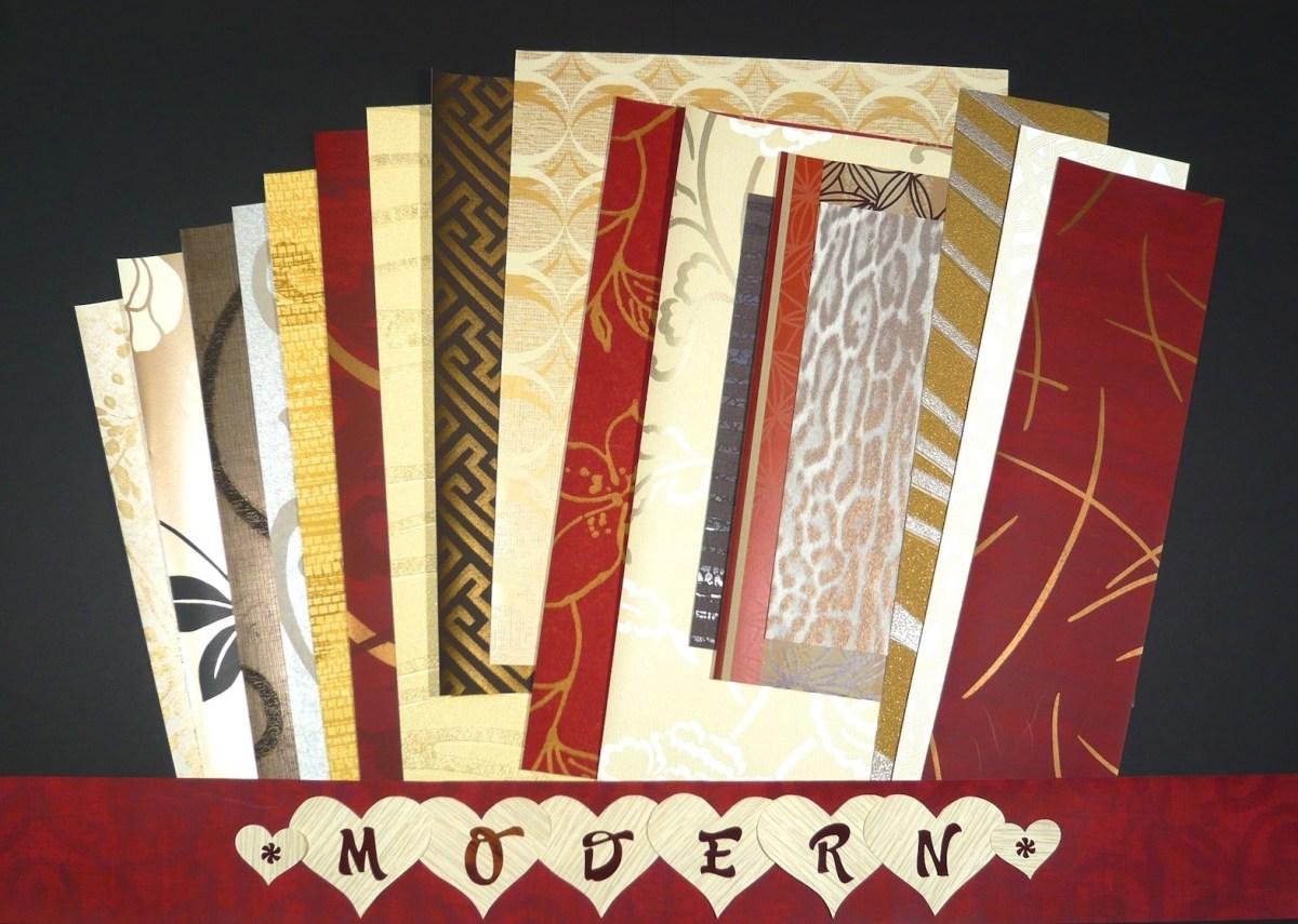 modern wallpaper crafts Pak, contemporary, mid-century, samples, crafts, scrapbooking
