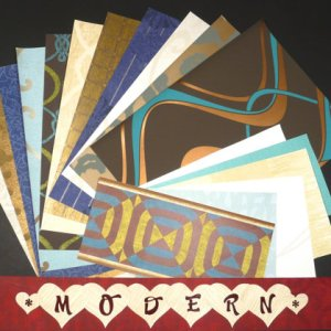 MODERN Patterns Crafts Scrapbooking Paper Wallpaper Pak 17 Sheets