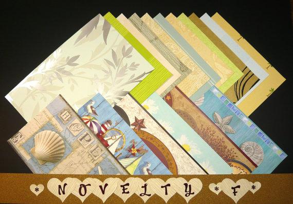 Novelty -Feminine Off-the-Wall Love Bunch Wallpaper Sheet Packs for Crafts & Scrapbooking
