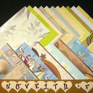 NOVELTY Feminine Craft Scrapbooking Paper WALLPAPER Pak 17 Sheets