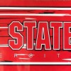 Ohio State wallpaper border, red, gray