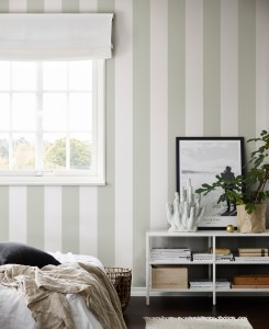 Striped Wallpaper Adds Charm Traditional or Contemporary