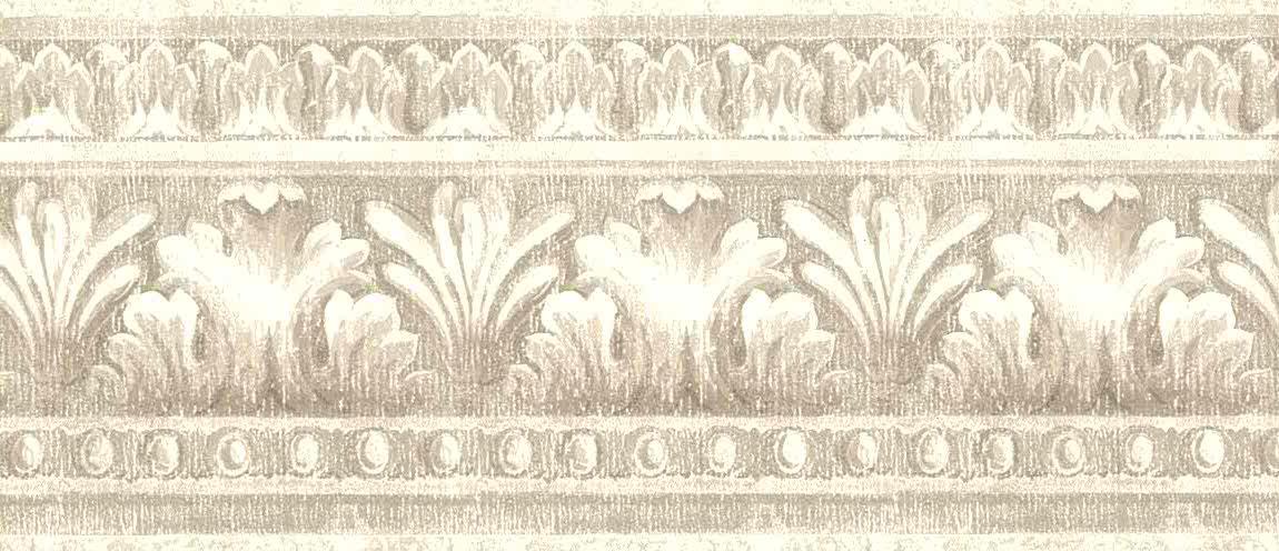 taupe vintage wallpaper border