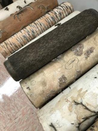 history of wallpaper, vintage manufacturing tools