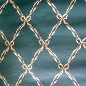 Ribbon Vintage Wallpaper Bows Green Beige 587814 D/Rs