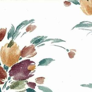 Vintage Tulip Bouquet Wallpaper Kitchen Floral Eggplant Orange KM2015 D/Rs
