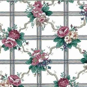 Waverly Lattice Floral Vintage Wallpaper Kitchen Pink 558152 D/Rs