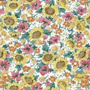 Sunflowers Vintage Wallpaper Yellow Floral Kitchen Green TM 2022 D/Rs