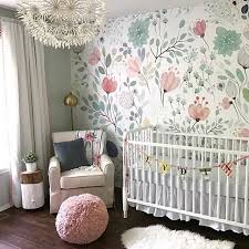 nursery floral wallpaper