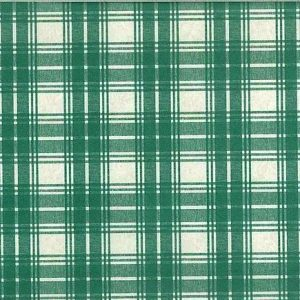 Vintage Green Plaid Wallpaper Cream Kitchen Traditional Country 121147 D/Rs
