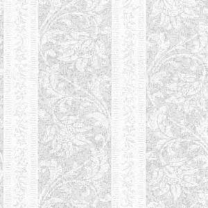 Carey Lind Striped Wallpaper Paisley Floral Silver Pearlized SS9789 D/Rs