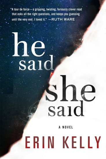 Waiting on Wednesday – He Said/She Said by Erin Kelly