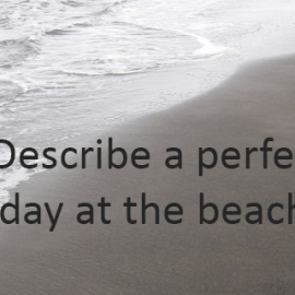 Writing Prompt for August 18: At the Beach