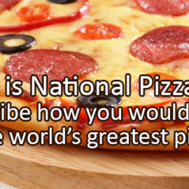 Writing Prompt for October 2: Pizza Month
