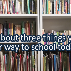 Writing Prompt for September 10: To School