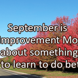 Writing Prompt for September 24: Self Improvement