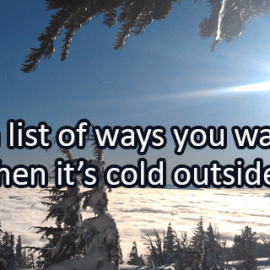 Writing Prompt for January 10: Cold