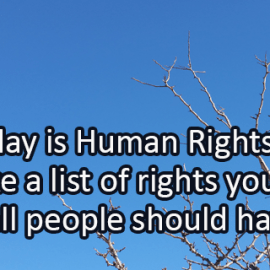 Writing Prompt for January 16: Human Rights