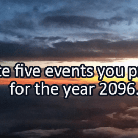 Writing Prompt for March 29: In the Future