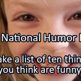 Writing Prompt for April 12: Humor Month