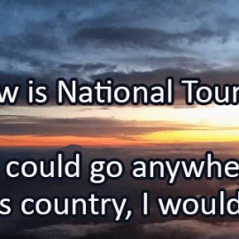 Writing Prompt for May 6: Tourism