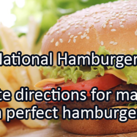 Writing Prompt for May 17: Hamburgers