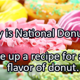 Writing Prompt for June 3: Donuts