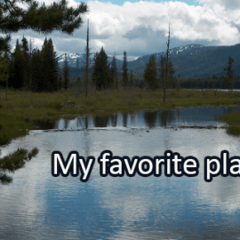 Writing Prompt for June 6: Favorite Place