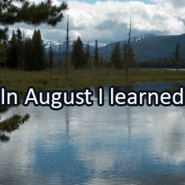 Writing Prompt for August 31: August Learning