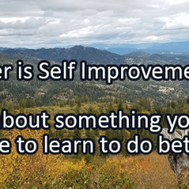 Writing Prompt for September 18: Self Improvement