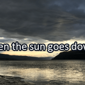 Writing Prompt for October 4: Sun Goes Down