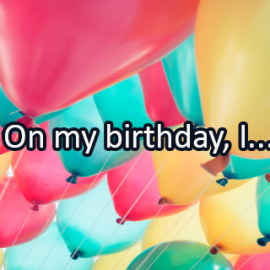 Writing Prompt for January 9: Birthday