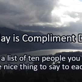 Writing Prompt for January 24: Compliment