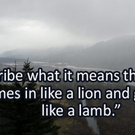 Writing Prompt for March 2: Lion and Lamb