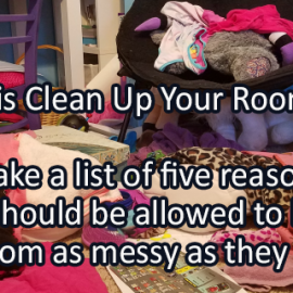 Writing Prompt for May 10: Messy Room