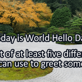 Writing Prompt for November 21: Hello!