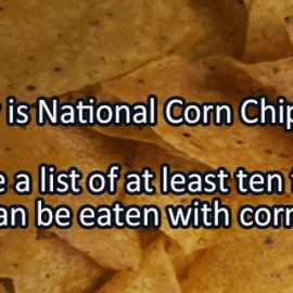 Writing Prompt for January 29: Corn Chips